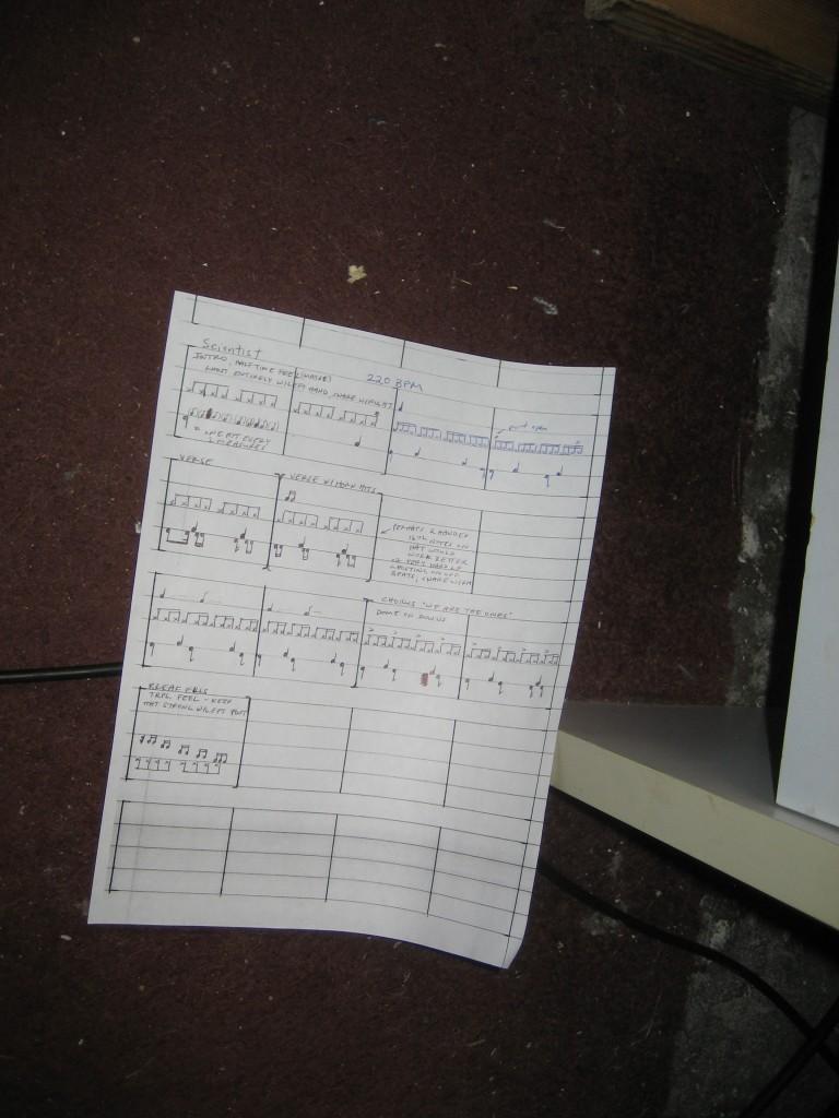 The Scientist Drum Sheet